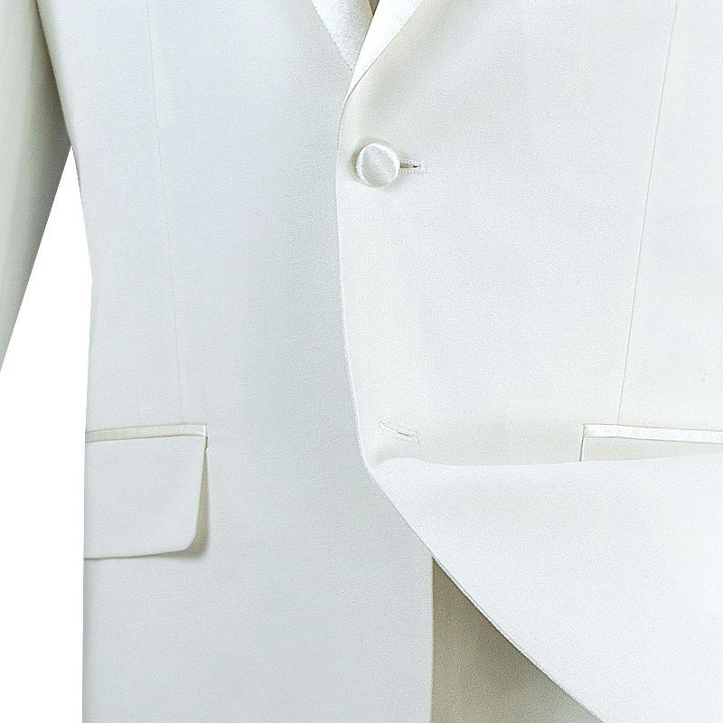 Excalibur Collection - Slim Fit Tuxedo 2 Piece 2 Buttons Design in Ivory - SUITS FOR MENS