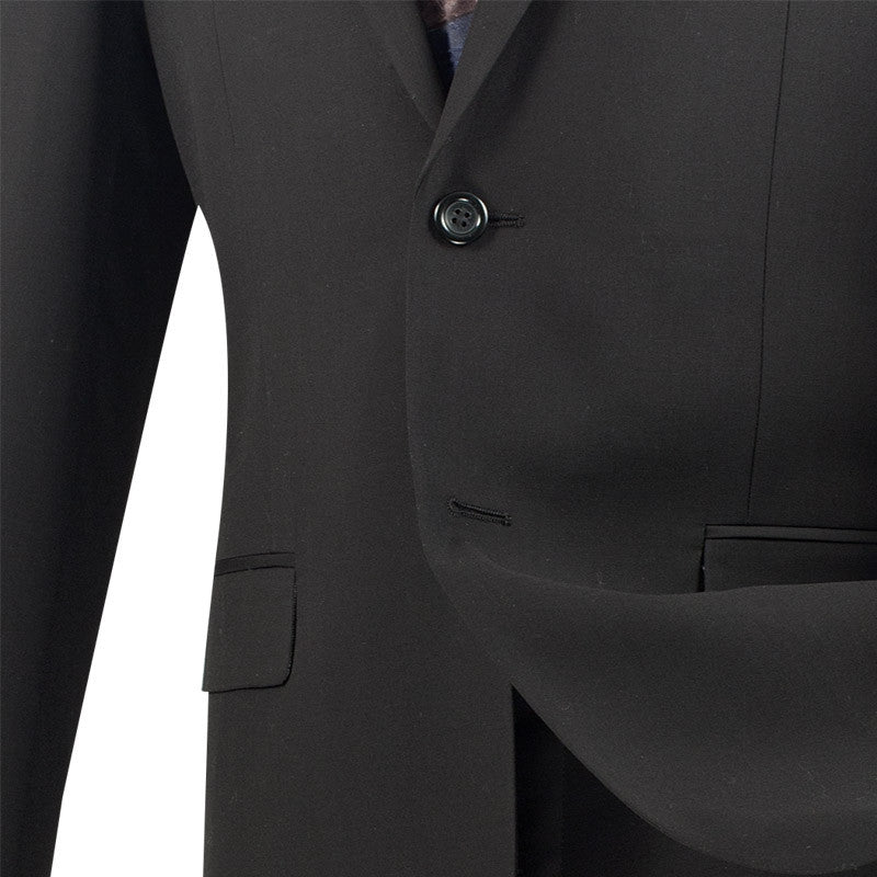 Black Ultra Slim Fit 2 Piece Business Suit - SUITS FOR MENS