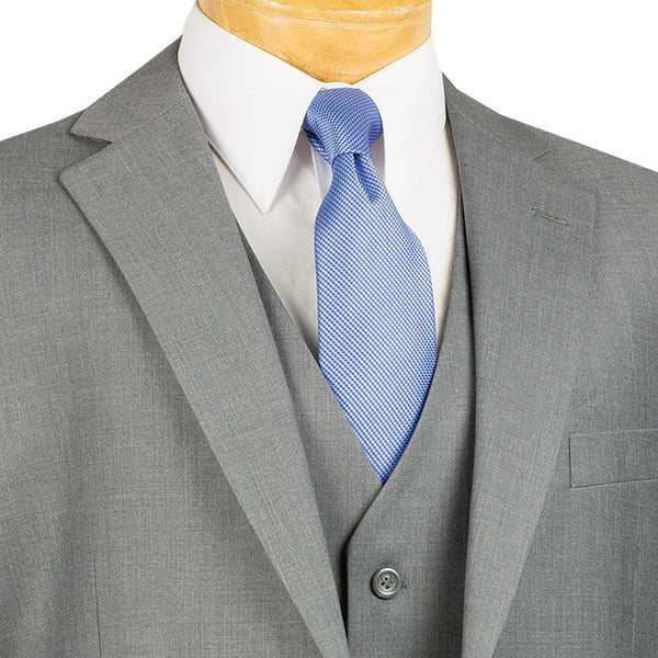 CLASSIC MEN'S SUITS WITH VEST 3 PIECE 2 BUTTONS MEDIUM GRAY