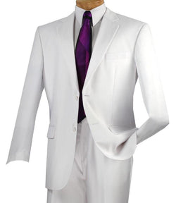 Nola Collection - Regular Fit 2 Piece in White - SUITS FOR MENS