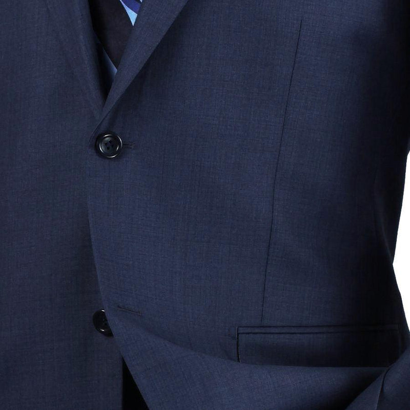 MEN'S CLASSIC FIT VINCI SUITS 2 BUTTONS DESIGN TEXTURED WEAVE IN BLUE NEW
