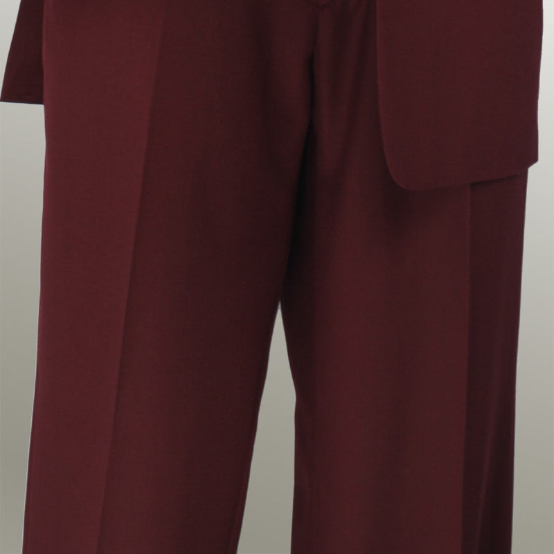 Monte Carlo Collection - Regular Fit 2 Piece 2 Button Textured Weave Burgundy - SUITS FOR MENS