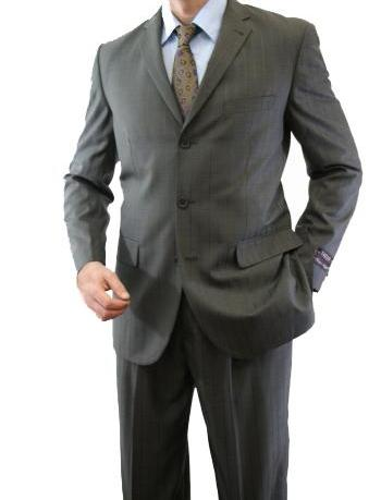 Regular Fit Suit Tone On Tone Stripe Design in Gray 2 Pieces - Mens Suits