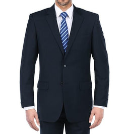 Vanderbilt Collection - Classic 2 Piece Suit 2 Buttons Regular Fit In Dark Navy