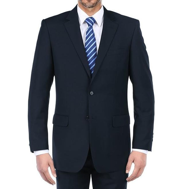 Vanderbilt Collection - Classic 2 Piece Suit 2 Buttons Regular Fit In Dark Navy - SUITS FOR MENS