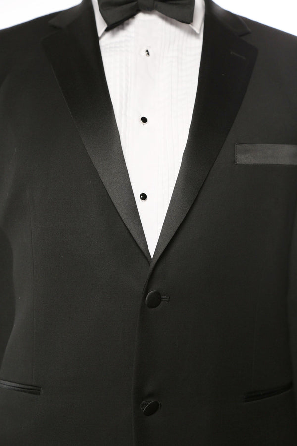 Classic Tuxedo 2 Piece Regular Fit In Black - SUITS FOR MENS