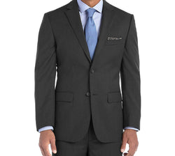 Bacchus Collection - Regular Fit Suit 2 Button 2 Piece in Dark Gray - SUITS FOR MENS
