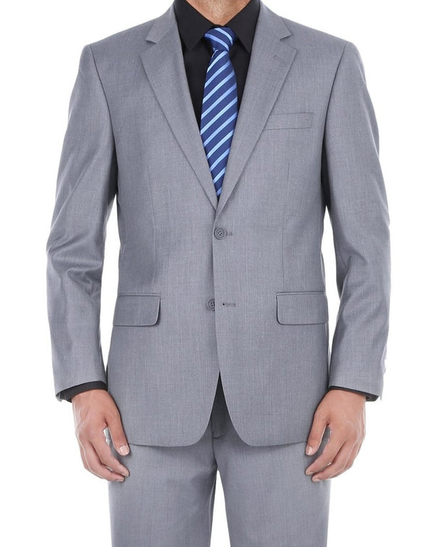 Vanderbilt Collection  - Classic 2 Piece Suit 2 Buttons Regular Fit In Gray - SUITS FOR MENS