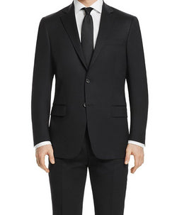 Bacchus Collection - Regular Fit Suit 2 Button 2 Piece in Black - SUITS FOR MENS