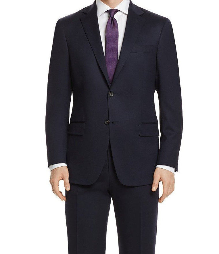 Bacchus Collection - Navy Regular Fit Suit 2 Button 2 Piece - SUITS FOR MENS