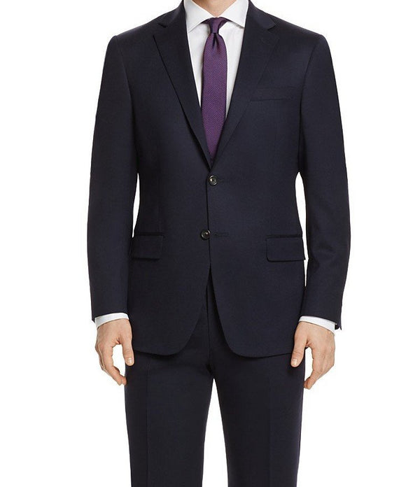 Bacchus Collection - Regular Fit Suit 2 Button 2 Piece in Navy - SUITS FOR MENS