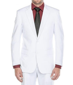 Vanderbilt Collection - Classic 2 Piece Suit 2 Buttons Regular Fit In White
