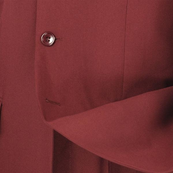 Mont Blanc Collection - Regular Fit Suit 3 Button 2 Piece in Burgundy - SUITS FOR MENS