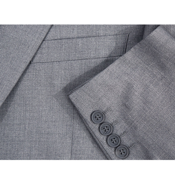 Vanderbilt Collection  - Classic 2 Piece Suit 2 Buttons Regular Fit In Gray