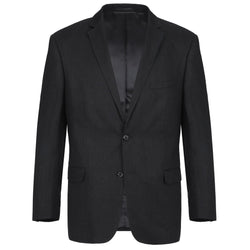 Linen Suit 2 Piece 2 Buttons Regular Fit In Black - SUITS FOR MENS