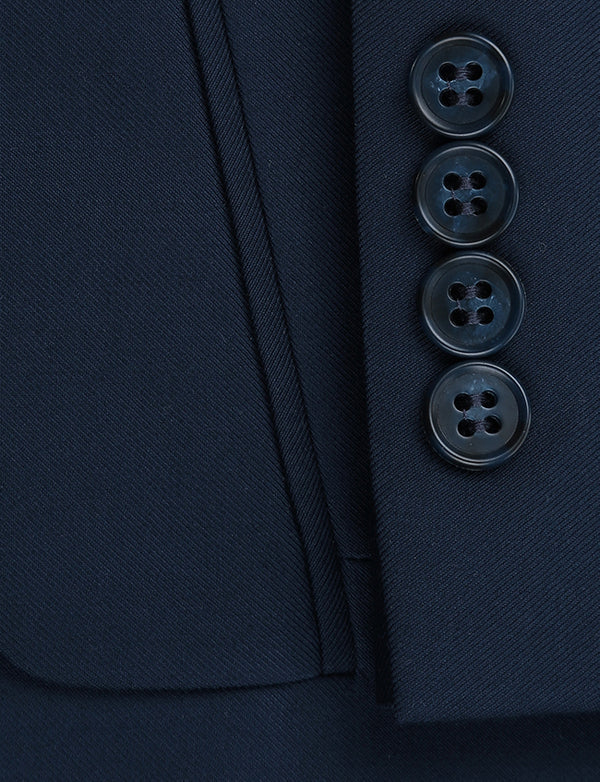Vanderbilt Collection - Classic 2 Piece Suit 2 Buttons Regular Fit In Navy - SUITS FOR MENS