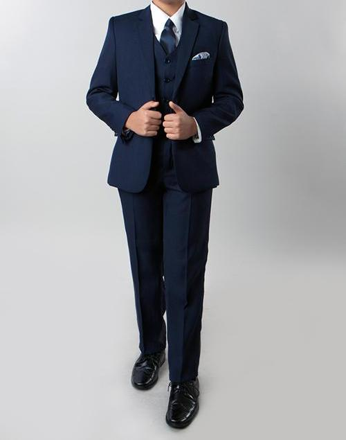 Classic Boy Suit 5 Piece Set Navy - SUITS FOR MENS