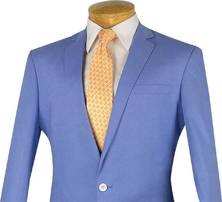 Blue Slim Fit Blazer Men's Fashion Jacket - SUITS FOR MENS