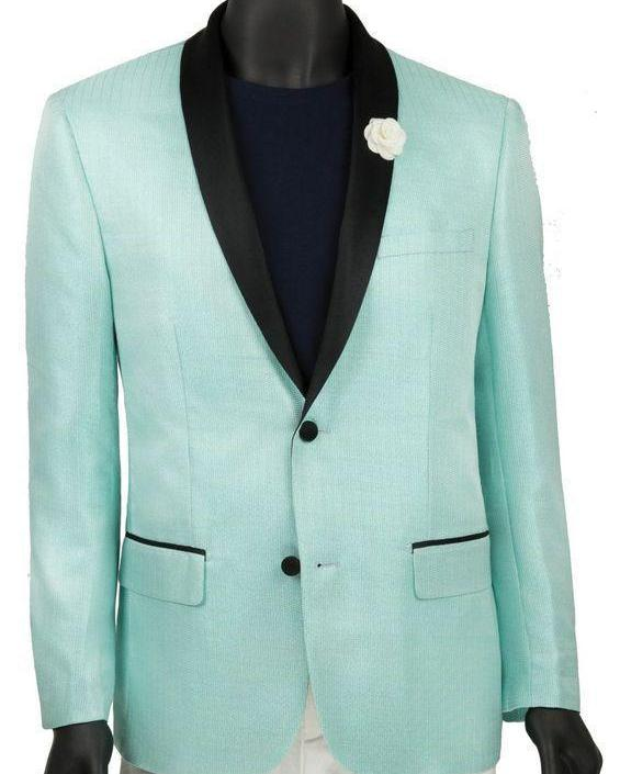 Aqua Slim Fit Jacket Single breasted 2 Buttons Shawl Lapels