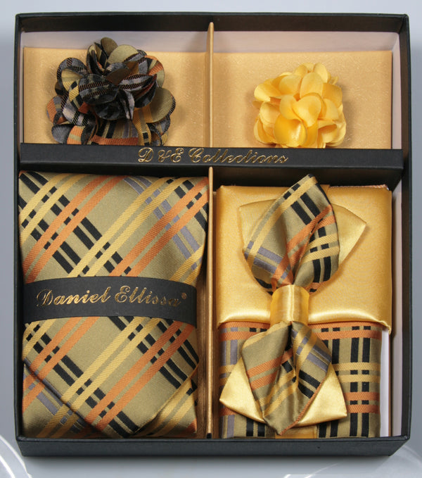 Gold Men's Accessories Collection Box 6 Piece Set - SUITS FOR MENS