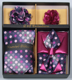 Fuschia Men's Accessories Collection Box 6 Piece Set - SUITS FOR MENS