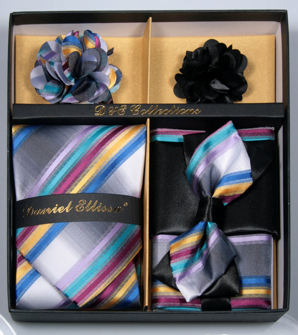 Multi Color Men's Accessories Collection Box 6 Pieces Set - Mens Suits