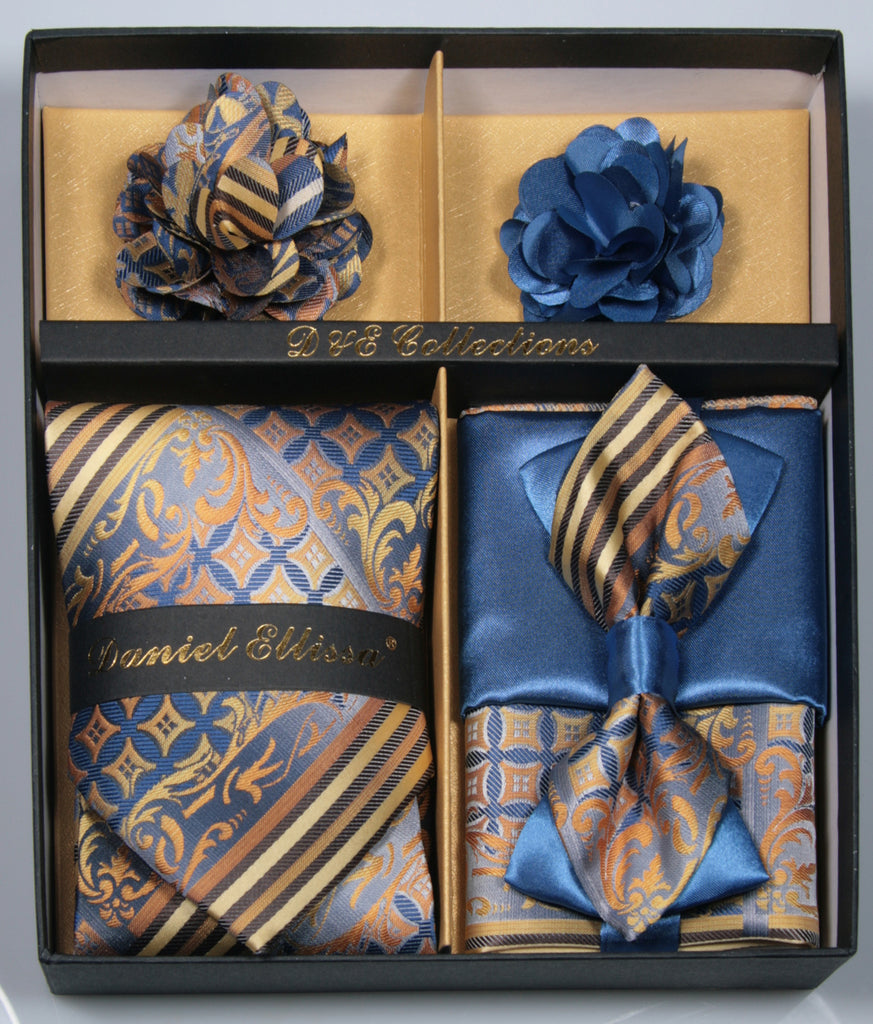Blue and Copper Men's Accessories Collection Box 6 Pieces Set - SUITS FOR MENS