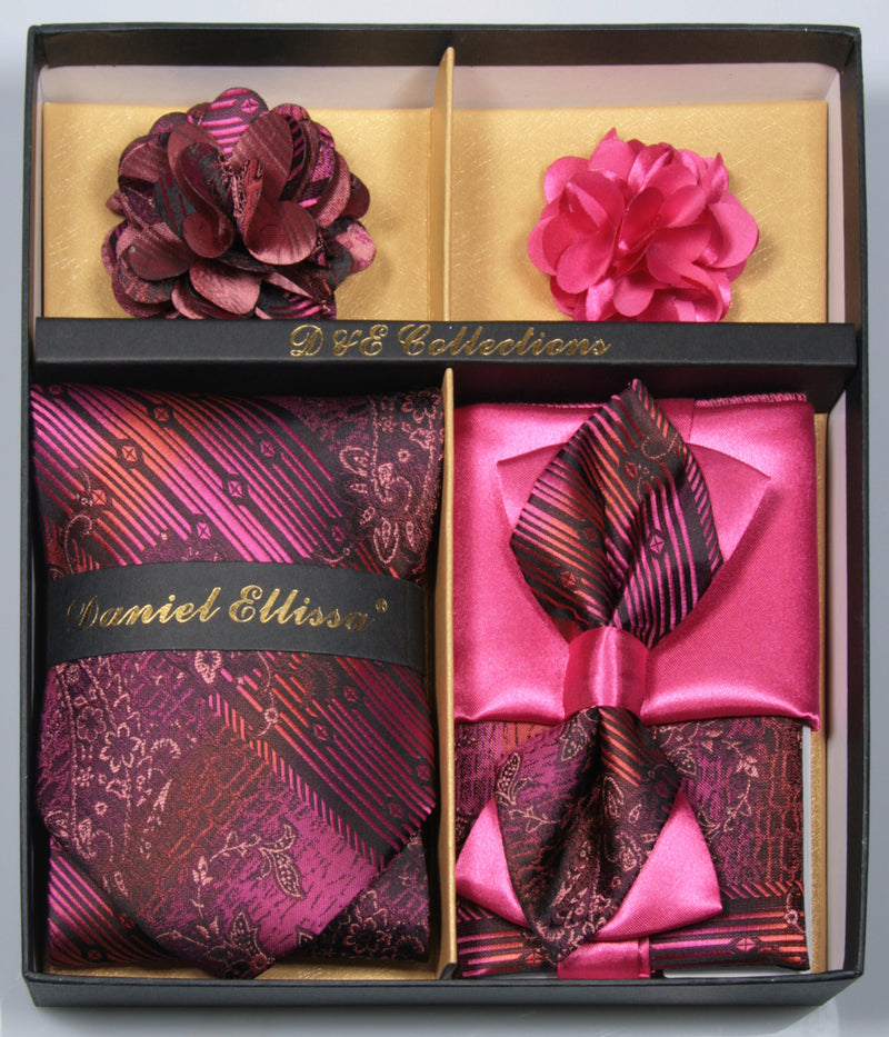 Hot Pink Men's Accessories Collection Box 6 Pieces Set - SUITS FOR MENS