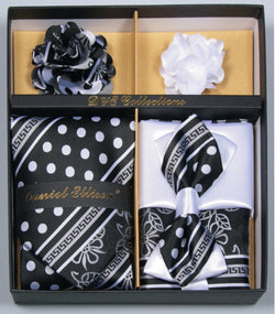 Black and White Dots Men's Accessories Collection Box 6 Piece Set - SUITS FOR MENS
