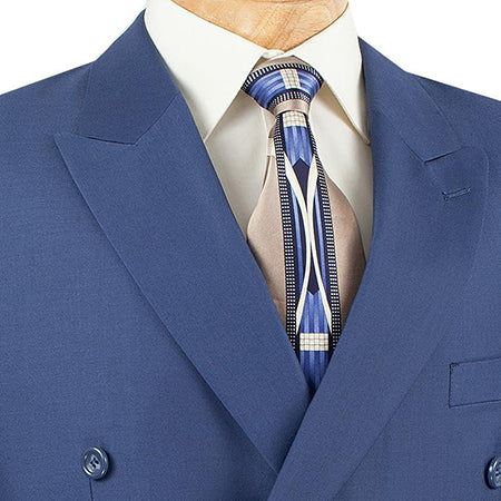 Ramses Collection - Double Breasted 2 Piece Suit Regular Fit in Blue - Mens Suits