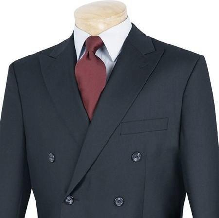 Ramses Collection - Double Breasted Suit 2 Piece Regular Fit in Navy - Mens Suits