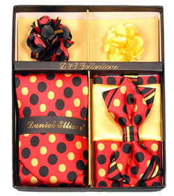 Yellow and Dots Men's Accessories Collection Box 6 Pieces Set - Mens Suits