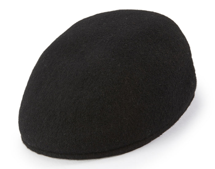 Wool Felt Ivy Cap in Black - SUITS FOR MENS