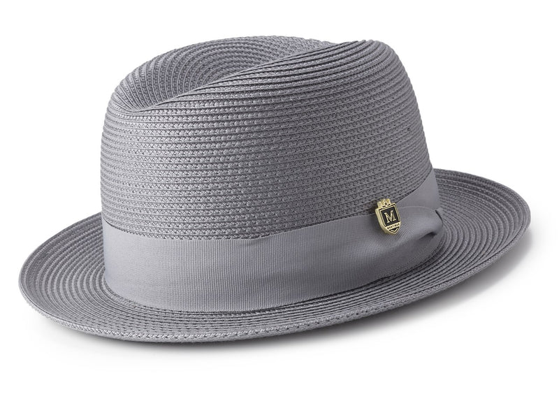 Braided Center Crease Fedora in Gray - SUITS FOR MENS
