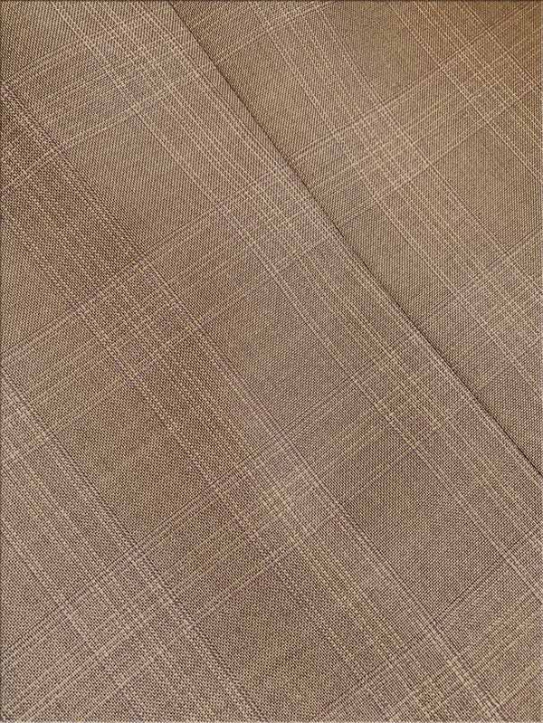 Pompey Collection - Men's Glen Plaid Dress Suit 2 Piece Regular Fit in Tan - SUITS FOR MENS