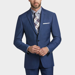 Ultra Slim Fit Suit 2 Piece 2 Button French Blue - SUITS FOR MENS