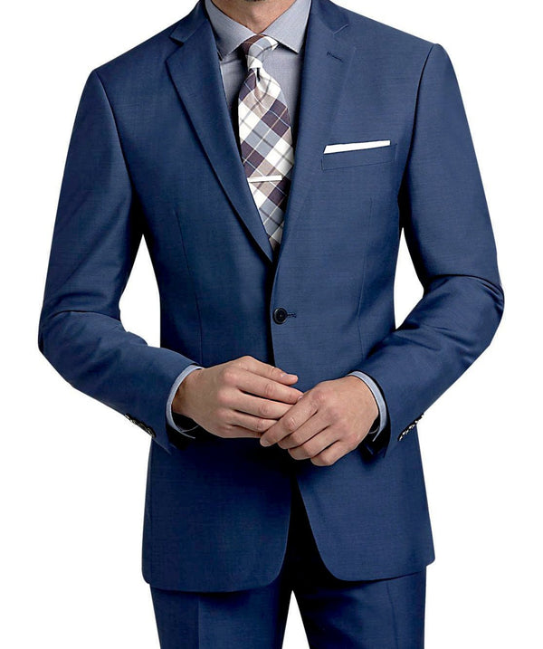 Stilo Collection - Slim Fit Suit Year Round Style 2 Piece 2 Button French Blue - SUITS FOR MENS