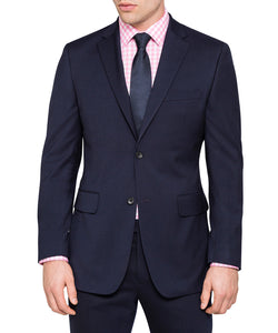 Slim Fit Suit Year Round Style 2 Piece 2 Buttons Navy - Mens Suits