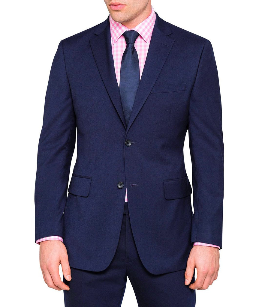 Ultra Slim Fit Suit 2 Pieces 2 Buttons Midnight Blue - Mens Suits