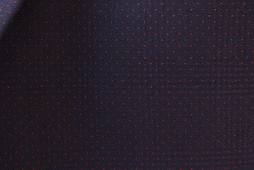 Regular Fit Tone on Tone Check Dots 3 Piece Suit Midnight Blue