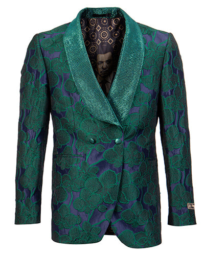 Empire Collection - Green Slim Fit Dinner Jacket Double Breasted Blazer