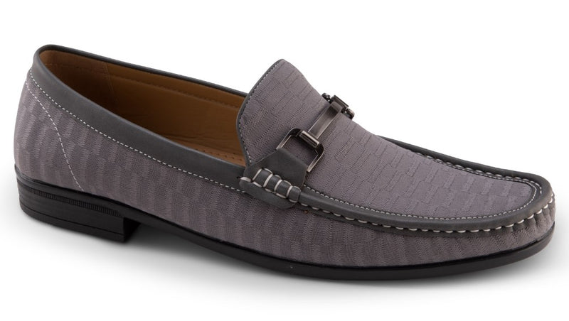 Men's Fashion Loafers Slip-On Shoes Tone on Tone in Gray