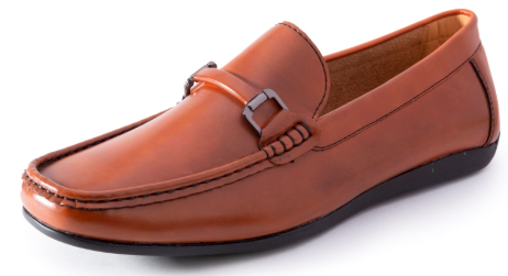 Men's Slip On Casual Shoes in Cognac - SUITS FOR MENS