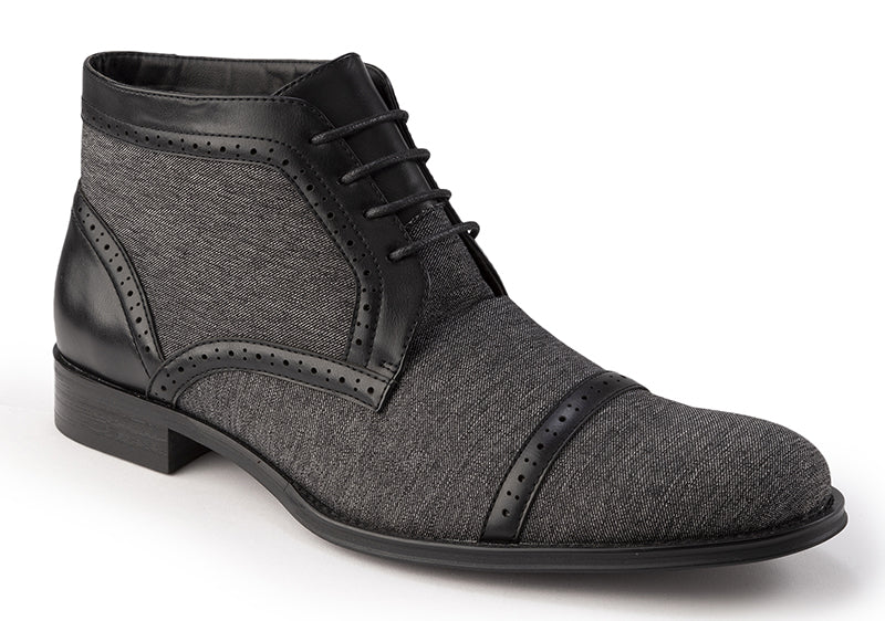 Black Men's Dress Fashion Boots - SUITS FOR MENS