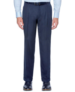 Dress Pants Regular Fit Leg Pleated Pre-hemmed With Cuffs in Blue - SUITS FOR MENS