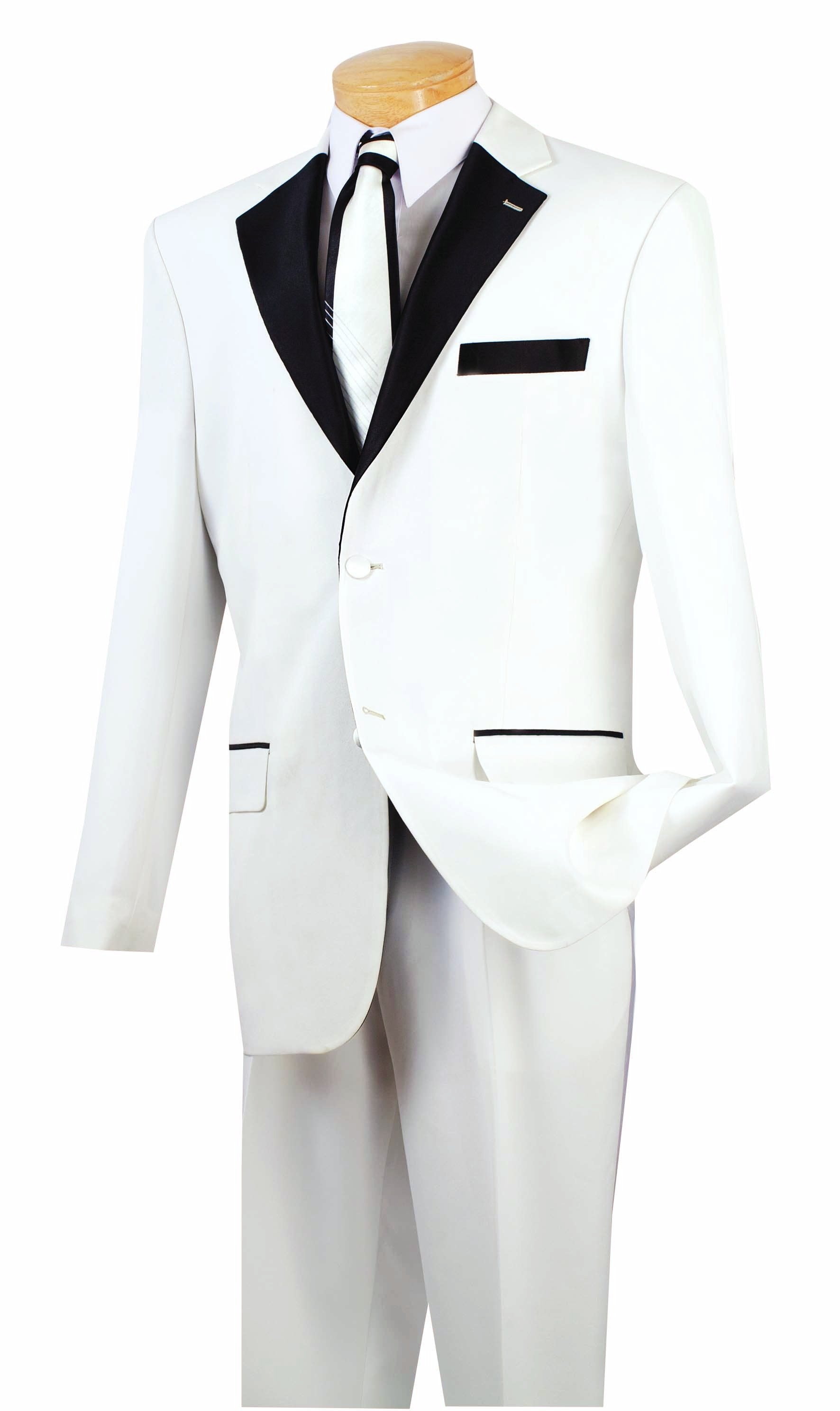 Men\'s Prom Tuxedo Collection With Fancy Lapel In White 2 Button ...