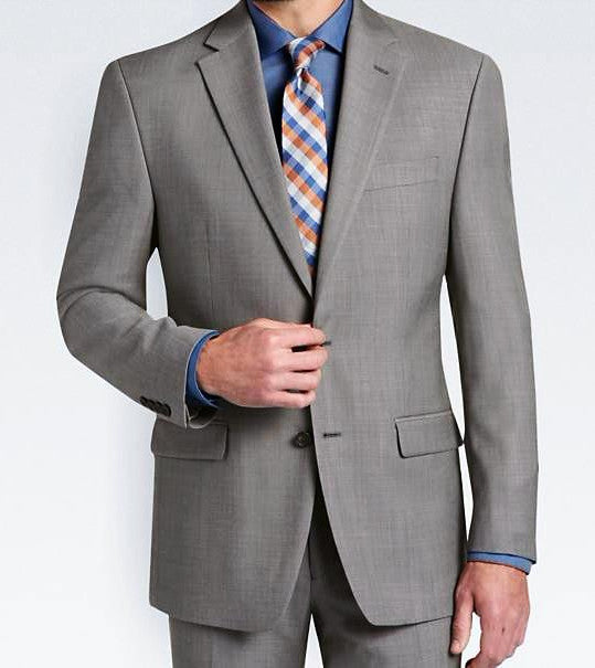 Ultra Slim Fit Suit 2 Pieces 2 Buttons in Gray - Mens Suits