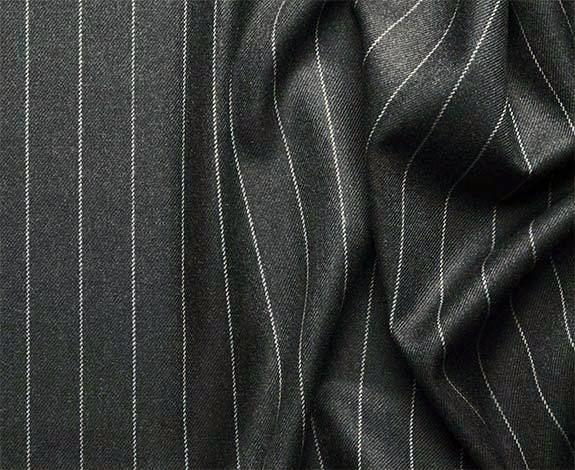 Portofino Collection - Regular Fit 3 Piece 3 Button Banker Stripe in Charcoal