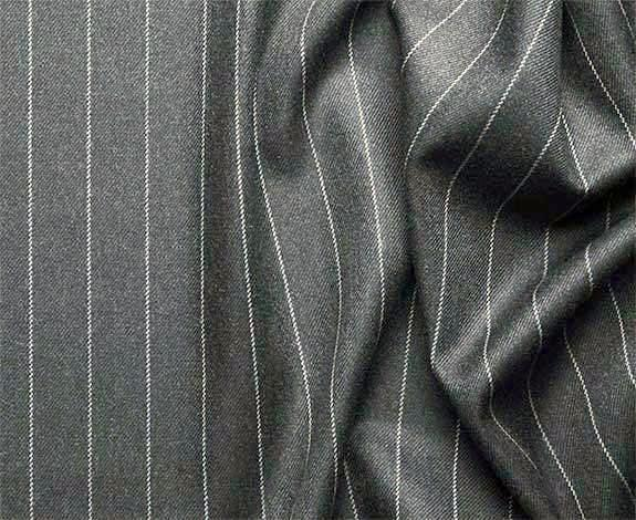 Portofino Collection - Regular Fit 3 Piece 3 Button Banker Stripe in Medium Gray