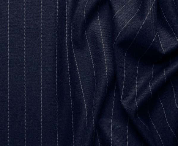 Portofino Collection - Regular Fit 3 Piece 3 Button Banker Stripe in Dark Navy